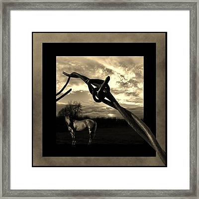 Under The Wire Framed Print