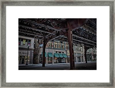 Under Tracks Chicago Framed Print by Mike Burgquist
