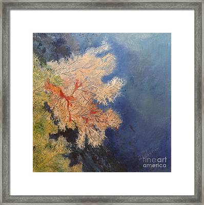 Framed Print featuring the painting Under Water Happiness  by Delona Seserman