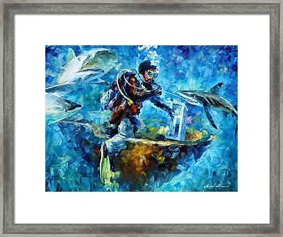 Under Water Framed Print by Leonid Afremov