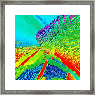Under Water View Framed Print