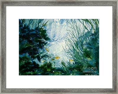 Framed Print featuring the painting Under Water View by Karol Wyckoff