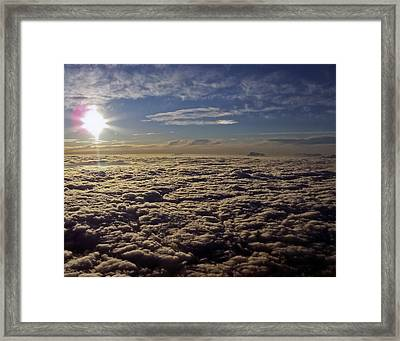 Framed Print featuring the photograph Undercast And Sun by Greg Reed