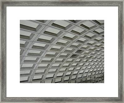 Underground. Washington Dc. Usa Framed Print