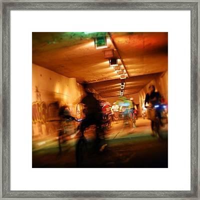 Underground Bikers - Sao Paulo Framed Print