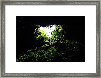 Underground Cave Framed Print