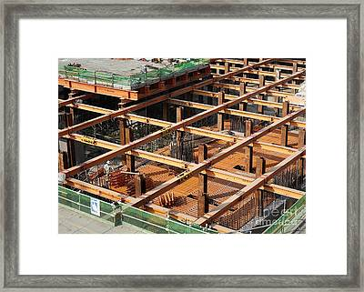 Underground Construction Project Framed Print