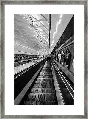 Underground Escalator Framed Print