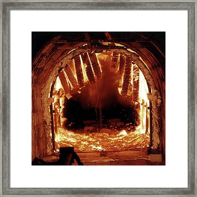 Underground Fire Simulation Framed Print by Crown Copyright/health & Safety Laboratory Science Photo Library