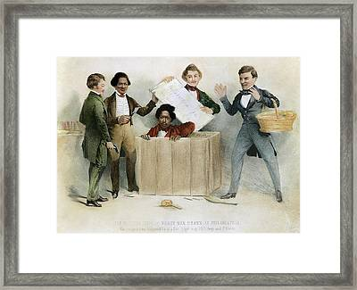 Underground Railroad, 1850 Framed Print