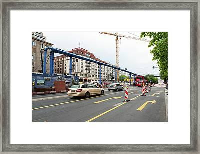 Underground Station Construction Framed Print by Ton Kinsbergen