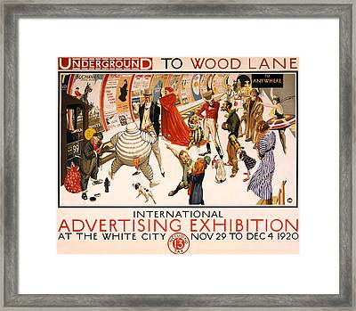 Underground To Wood Lane To Anywhere Framed Print by Georgia Fowler