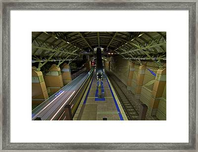 Framed Print featuring the photograph Underground Transit by John Babis