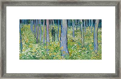 Undergrowth With Two Figures, 1890  Framed Print by Vincent van Gogh
