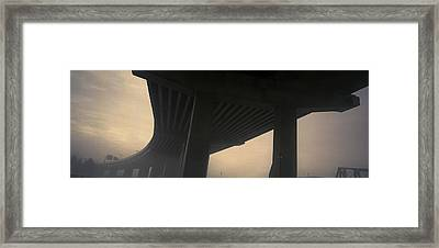 Underneath Decaying Decarie Autoroute Framed Print by Roderick Chen