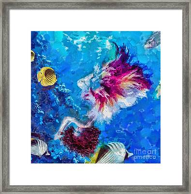 Underneath Framed Print by Mo T