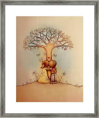 Underneath The Apple Tree Framed Print by Karin Taylor