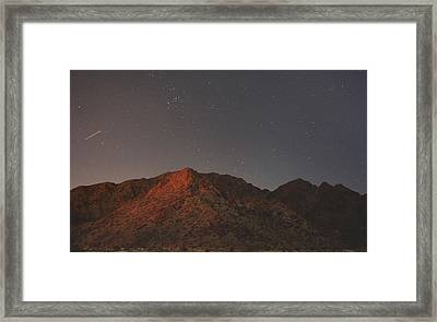 Underneath The Same Big Sky Framed Print by Laurie Search