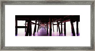 Underneath View Of San Clemente Pier Framed Print