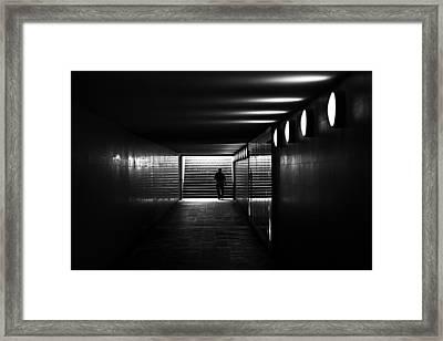 Underpass Berlin Framed Print