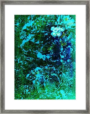 Undersea Mystery Flower II Framed Print by Anne-Elizabeth Whiteway