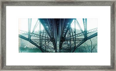 Underside Of A Bridge, Hudson Valley Framed Print