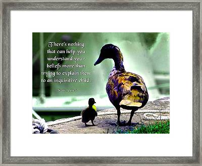Understand Your Beliefs Framed Print by Mike Flynn