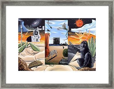 Framed Print featuring the digital art Understanding Everything Full by Ryan Demaree