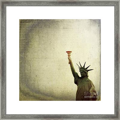 Understanding Liberty Framed Print by Trish Mistric