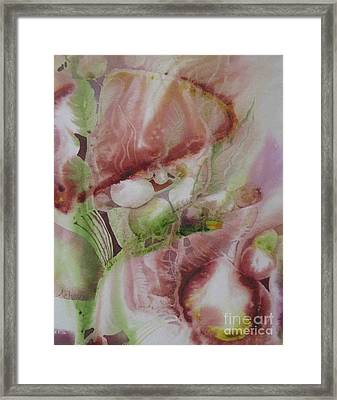 Underwater Abstract Framed Print by Donna Acheson-Juillet