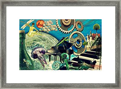 Framed Print featuring the digital art Underwater Dreams by Ally  White