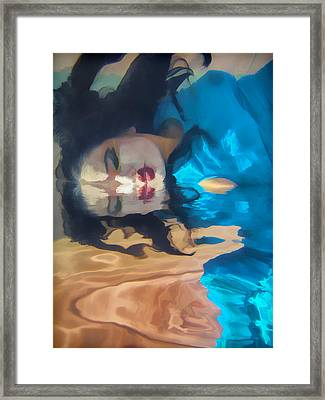 Underwater Geisha Abstract 1 Framed Print by Scott Campbell