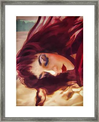 Underwater Geisha Abstract 3 Framed Print by Scott Campbell