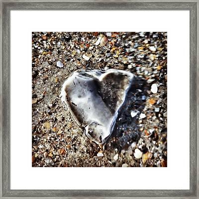 Underwater Heart Framed Print by Kerri Farley