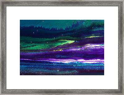 Underwater Landscape Abstract Framed Print by Serg Wiaderny