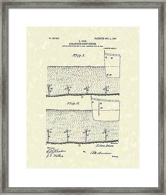 Underwater Light System 1907 Patent Art Framed Print by Prior Art Design