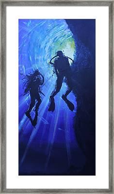 Underwater Lovers Framed Print by Morphd Mohawk