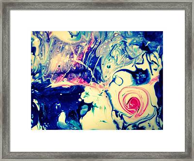 Underwater Rose Framed Print