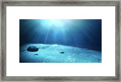 Underwater Sea Floor Framed Print by Allan Swart