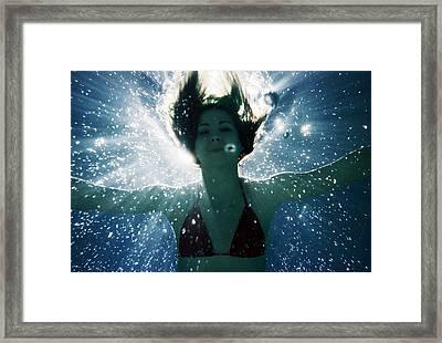 Underwater Self-portrait Framed Print