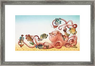 Underwater Story 05 Framed Print by Kestutis Kasparavicius