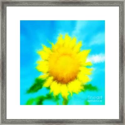 Underwater Sunflower Framed Print by Lorraine Heath