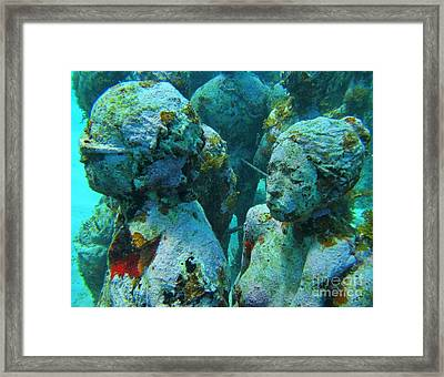 Underwater Tourists Framed Print