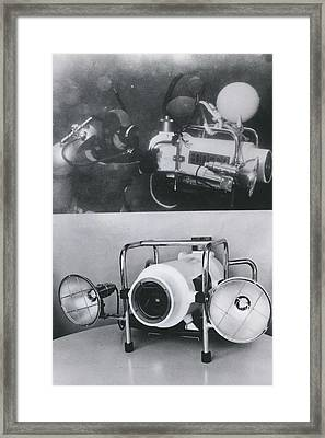 Underwater Tv Colour Camera Framed Print by Retro Images Archive