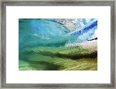 Underwater Wave Curl Framed Print