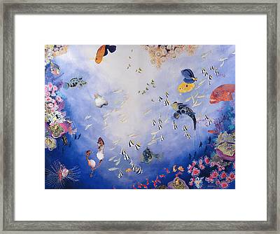 Underwater World Iv  Framed Print by Odile Kidd