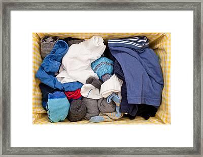 Underwear And Socks Framed Print