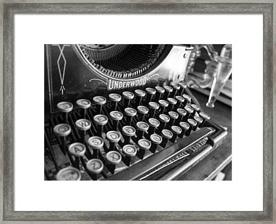 Write Something Framed Print by Lora Lee Chapman