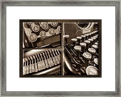 Underwood Typewriter Framed Print