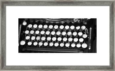 Underwood Typewriter Keys Framed Print by Dan Sproul